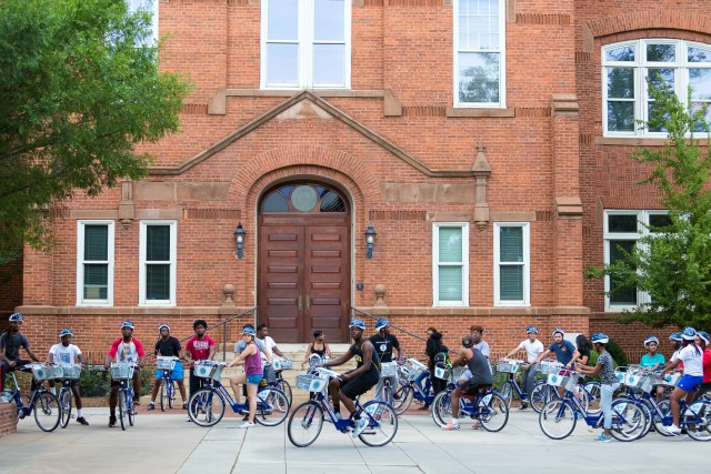 Charlotte B-Cycle hosts an annual back to school group ride.
