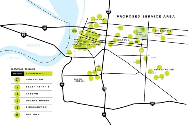 Explore bike share proposed service area