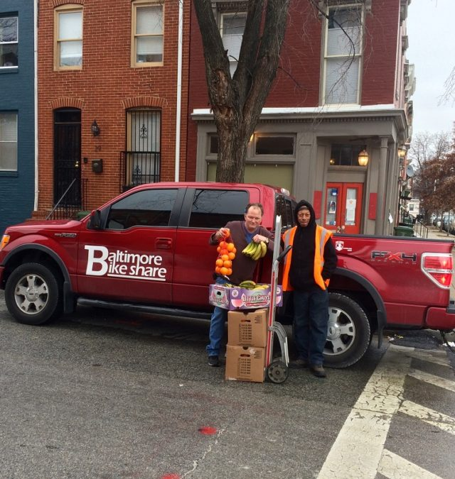 Baltimore Corps Logistics food donation