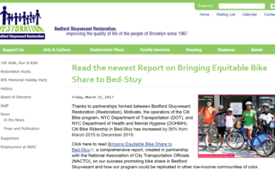 Bringing equitable bike share to Bed-Stuy