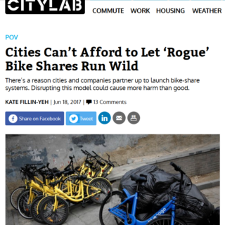 Are 'rogue' bike share systems a threat to equity?