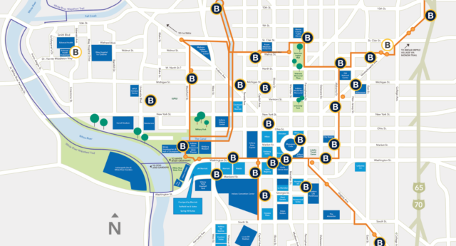 Indianapolis bike share map