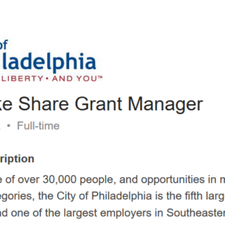 Become the next Better Bike Share Grant Manager!