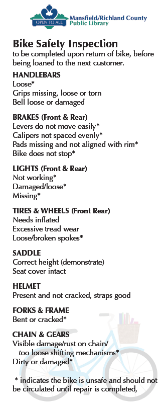 library bike checklist