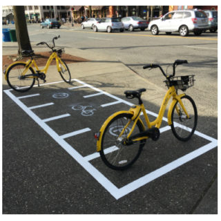 Seattle tries designated parking for dockless bikes