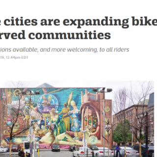 Traditional bike share still leads on equity
