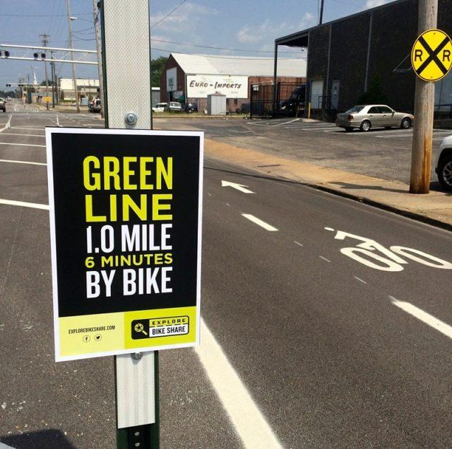 Explore bike share signage