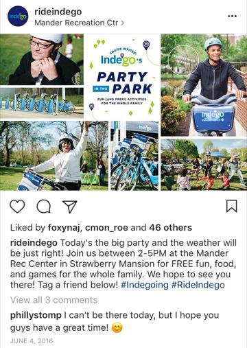Indego Instagram 2