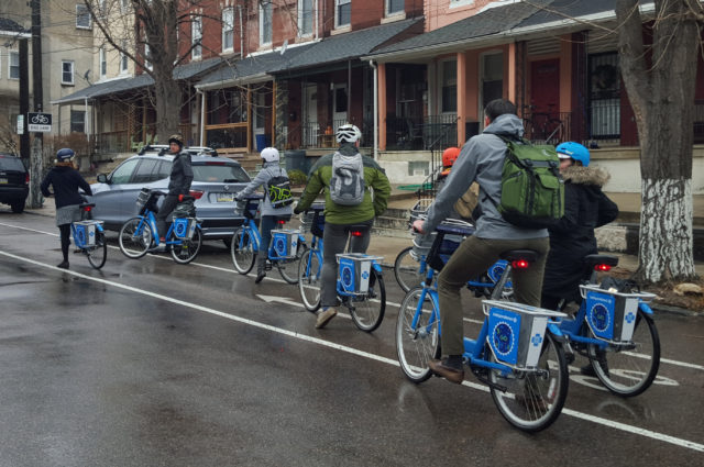 Indego group bike ride