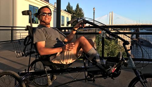 Chris Pangilinan adaptive bike Portland