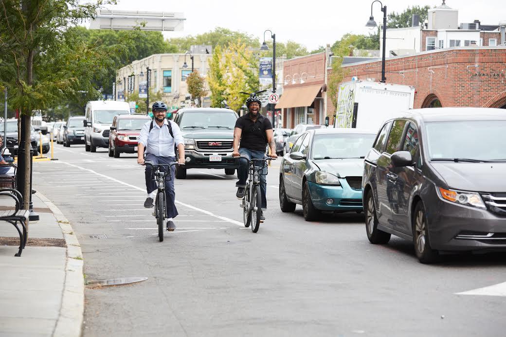 Boston Hubway riders