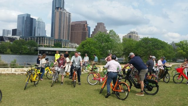 Austin dockless bike tour