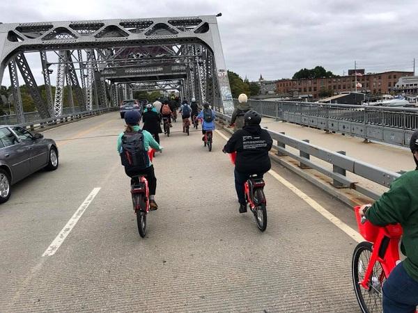 Providence bridge biking