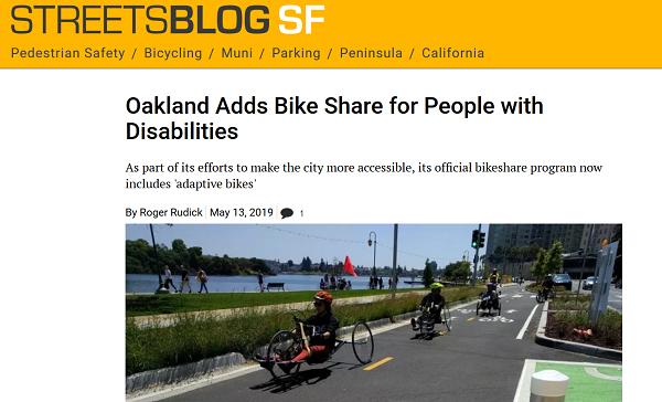 Streetsblog Oakland adaptive bikes