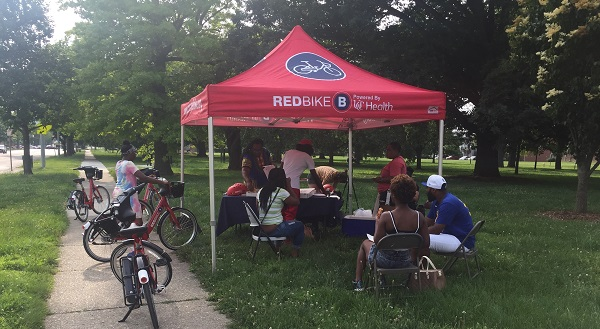 Cincinnati Red Bike tabling