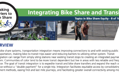 2-pager: Integrating Bike Share and Transit