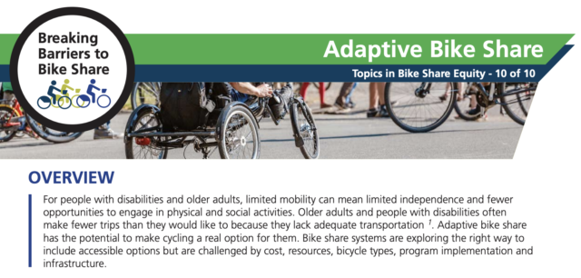 A screenshot of the PSU Adaptive Bike Share 2-pager