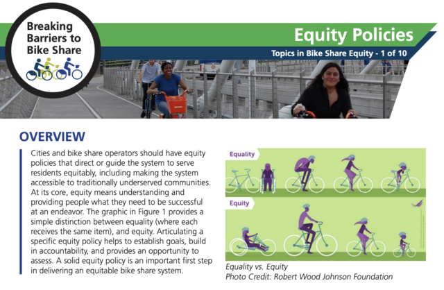 A screenshot of the Equity Policies one-pager.