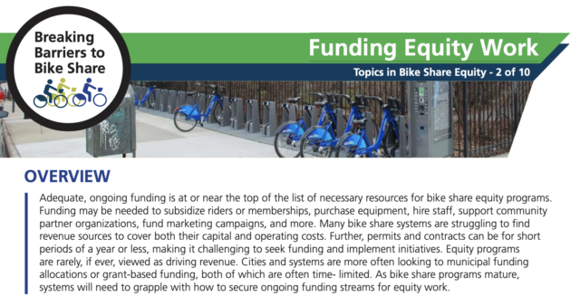 A screenshot of the PSU Funding Equity Work one-pager.