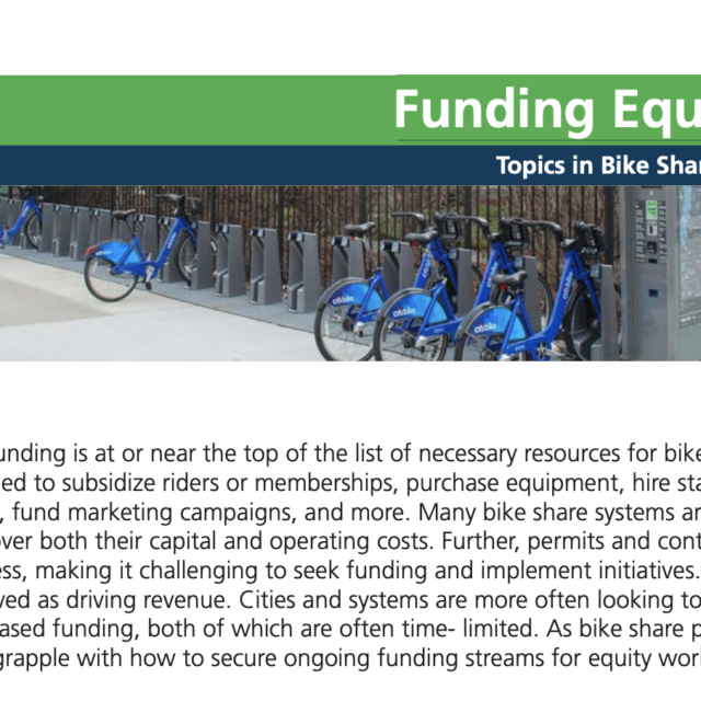 TREC x PSU: Breaking Barriers to Bike Share Briefs