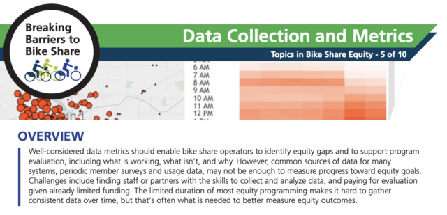A screenshot of the PSU 2-pager about data collection and metrics.