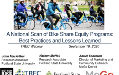 New Webinar: Best Practices & Lessons Learned of the National Scan of Bike Share Equity Programs